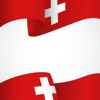 Vlag van zwitserland op wit