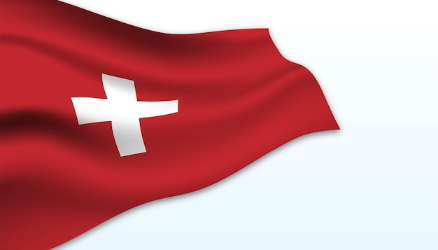 Vlag van zwitserse achtergrond.