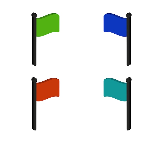 Vlaggen ingesteld
