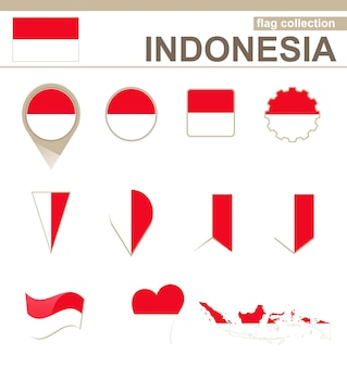 Vlaggencollectie indonesië, 12 versies