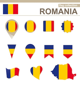 Vlaggencollectie roemenië, 12 versies