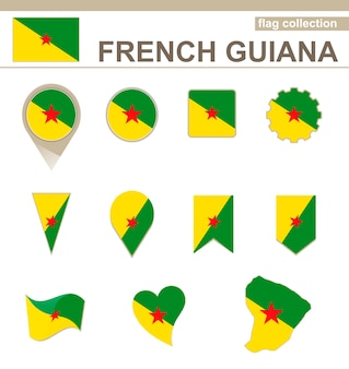 Vlaggencollectie van frans-guyana, 12 versies