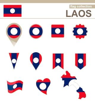 Vlaggencollectie van laos, 12 versies