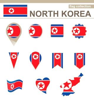 Vlaggencollectie van noord-korea, 12 versies