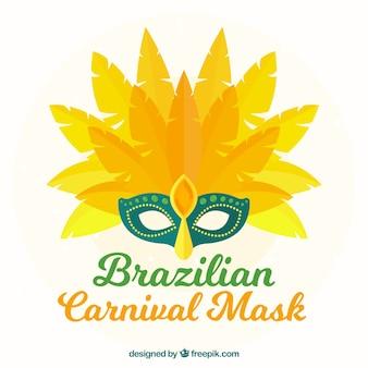Vlak braziliaans carnaval masker