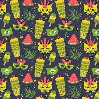 Vlak braziliaans carnaval-patroon
