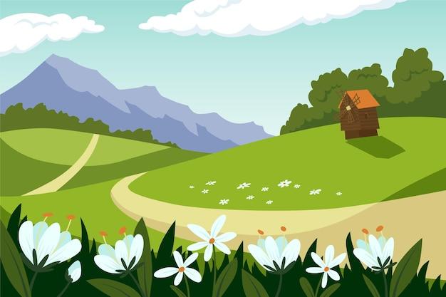 Vlak de lentelandschap