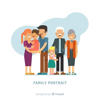 Vlak familieportret