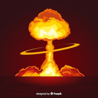 Vlak helder kernexplosie-effect