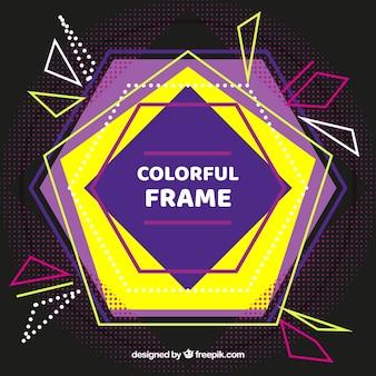 Vlak kleurrijk frame