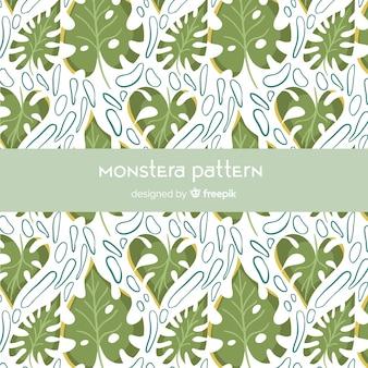 Vlak monstera-patroon