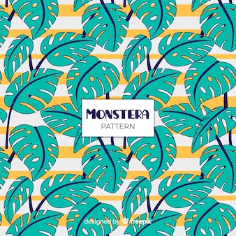 Vlak monstera-patroon