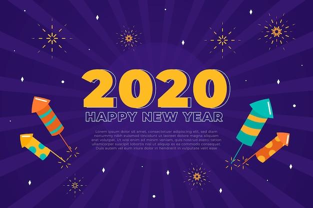 Vlak nieuw jaar 2020