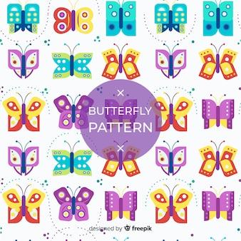 Vlak patroon met vlinders