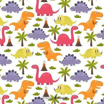 Vlak patroon van de dinosaurus
