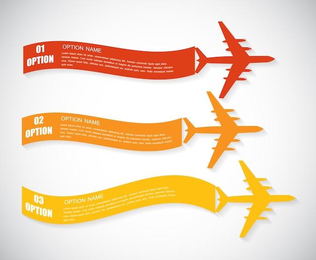 Vlak. retro vliegtuigbanner. vectorillustratie. eps10
