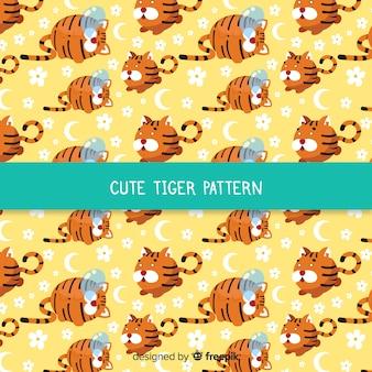 Vlak schattig tijgerpatroon