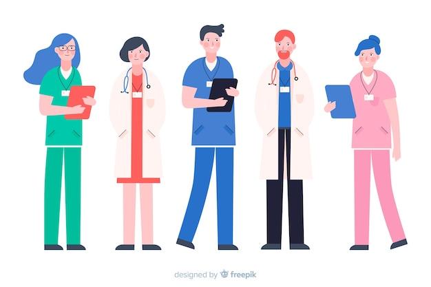 Vlak verpleegkundig team