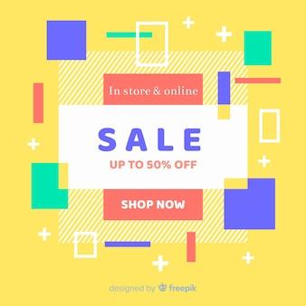 Vlakke abstracte minimalistische verkoopachtergrond