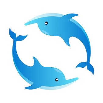 Vlakke afbeelding dolfijn