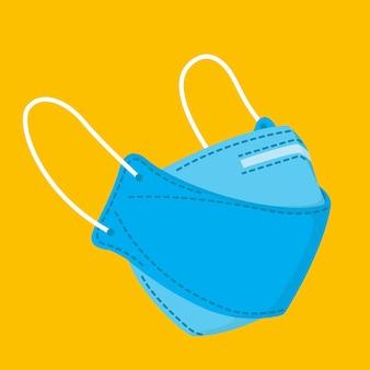 Vlakke afbeelding ffp2 gezichtsmasker