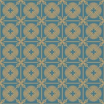Vlakke afbeelding van art deco-patroon