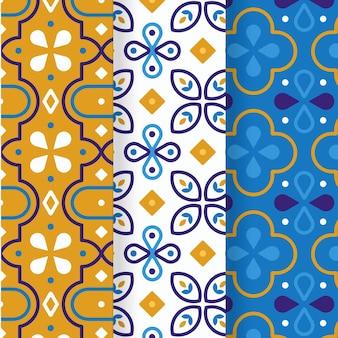 Vlakke arabische patrooncollectie