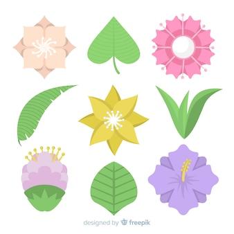 Vlakke bloemencollectie