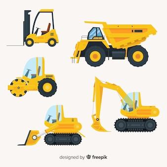 Vlakke bouwwagens collectio