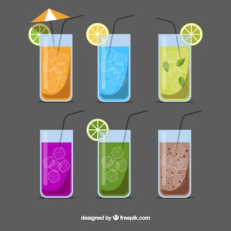 Vlakke cocktailverzameling