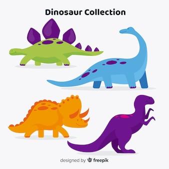 Vlakke dinosauruscollectie