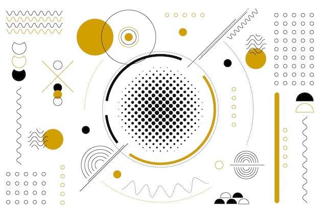 Vlakke geometrische vormenachtergrond in de stijl van memphis