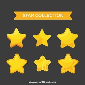 Vlakke gouden sterrencollectie