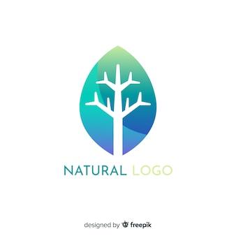 Vlakke gradatie aard concept logo