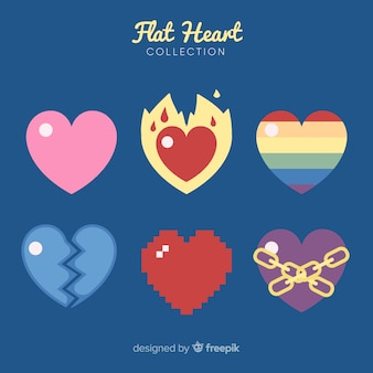 Vlakke hartcollectie
