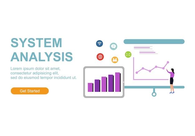 Vlakke illustratie web analytics