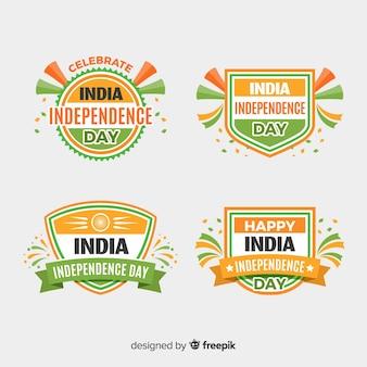 Vlakke india onafhankelijkheidsdag kenteken collectie
