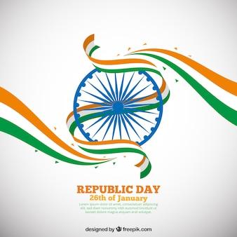 Vlakke india republiek dag achtergrond