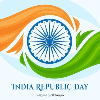 Vlakke indiase republiek dag achtergrond