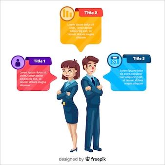 Vlakke infographic