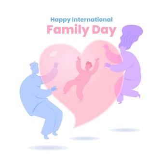 Vlakke internationale dag van gezinnen