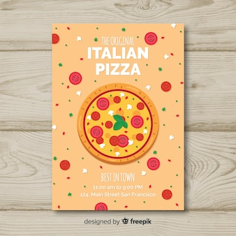 Vlakke italiaanse restaurantvlieger