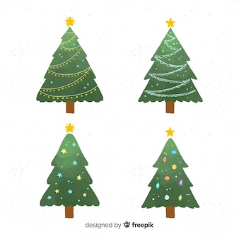 Vlakke kerstboom collectie