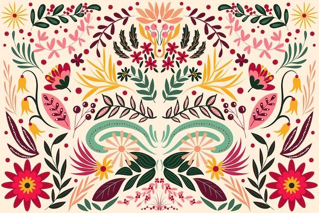 Vlakke kleurrijke mexicaanse achtergrond