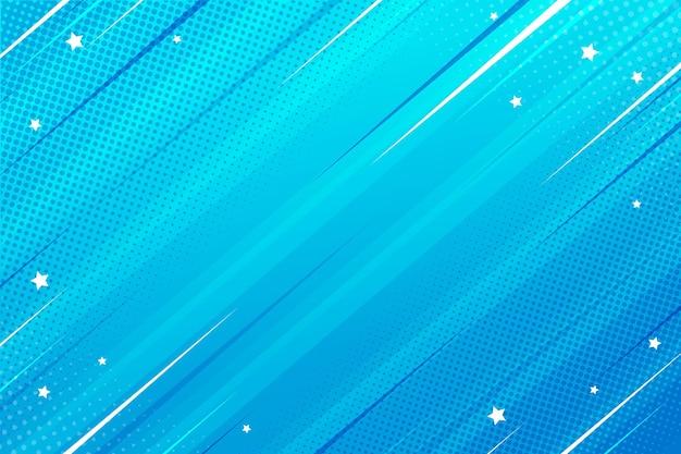 Vlakke komische stijl achtergrond snelheid blauw
