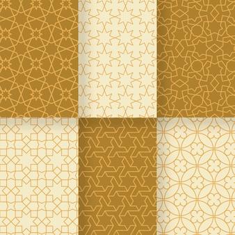 Vlakke lineaire arabische patrooncollectie