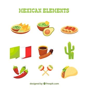 Vlakke mexicaanse elementeninzameling