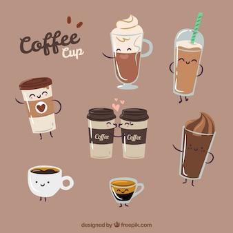 Vlakke papieren koffiekop