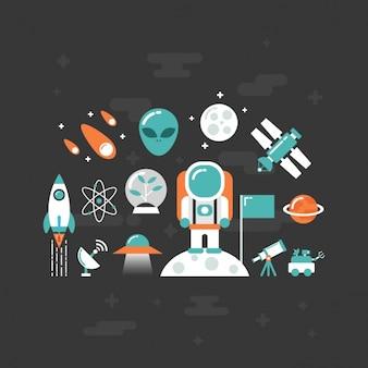 Vlakke ruimte elementen