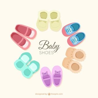 Vlakke schoenen van de baby set